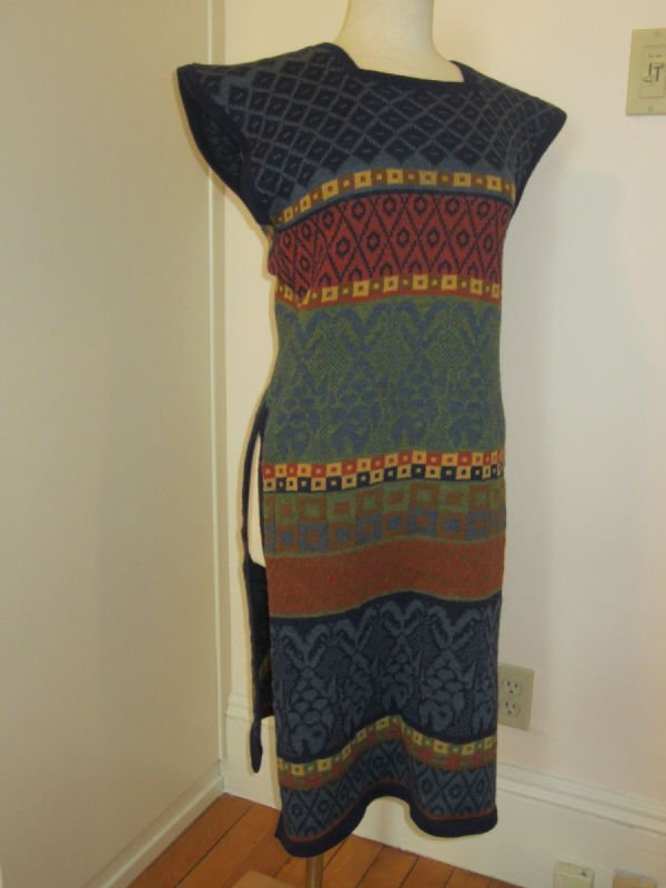 Beth Brett, long wool tunic (1980s)