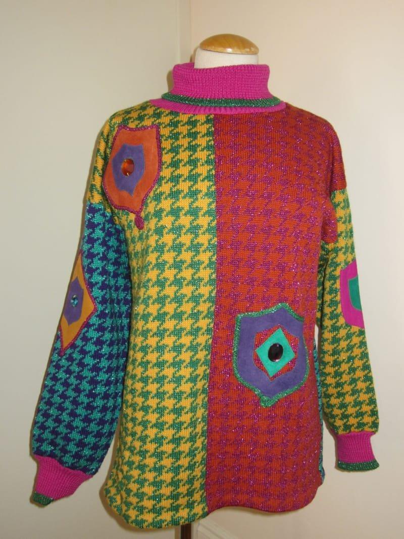 Beth Brett, harlequin pullover (1980s)