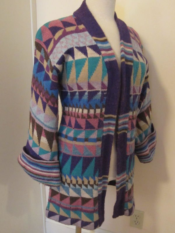 Beth Brett, multi-color wool jacket (1980s)