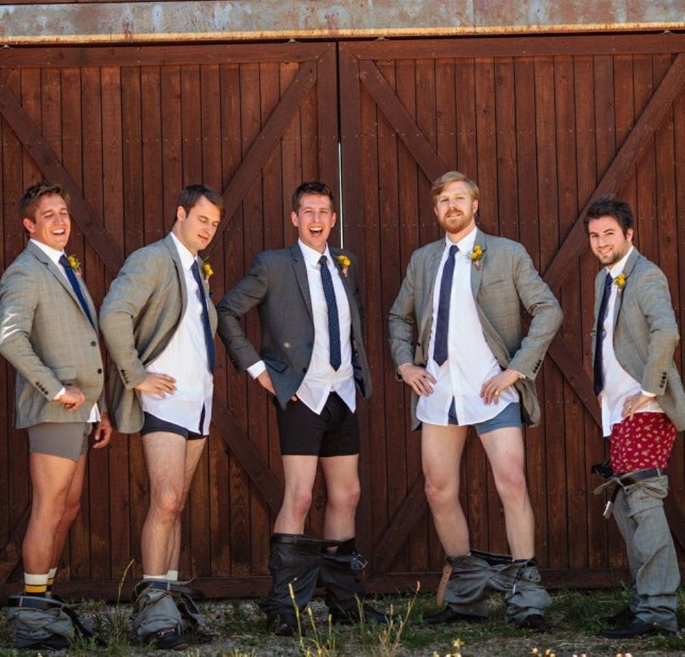 No more Pants Celebration: Funny Wedding Pictures