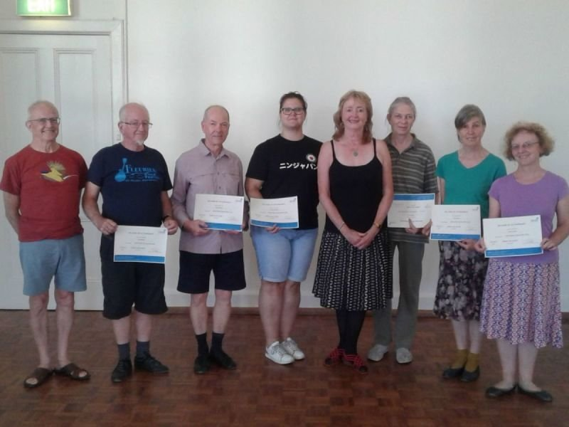 Attendees Basic Teaching Course 2019 with Helen Russell