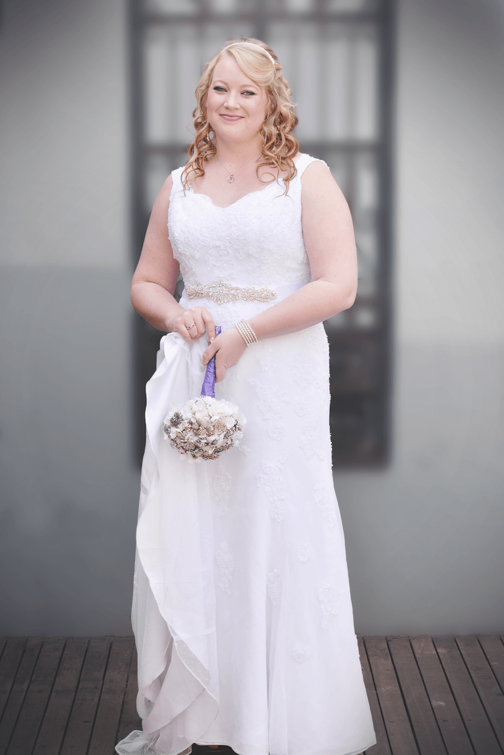 bride before church
