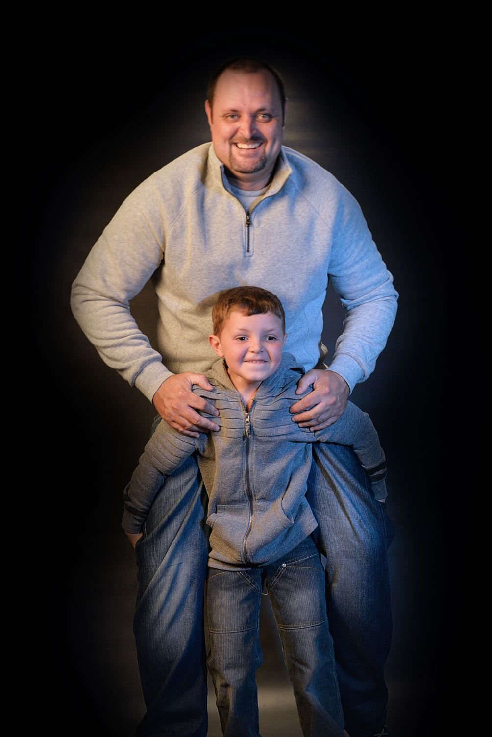father + son family photography