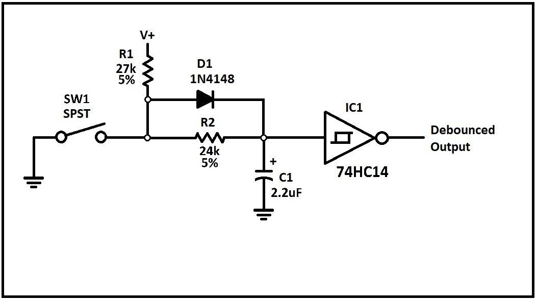 method 4  hardware debounce for spst switches