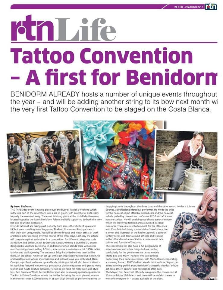 The Benidorm Tattoo Convention 2019 Wwwbenidormreviewscouk