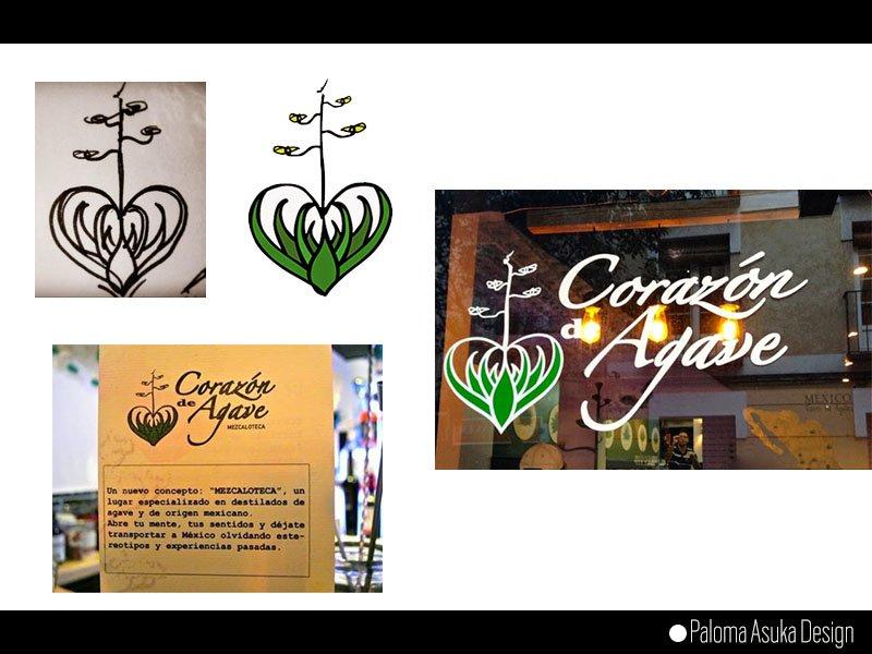 Logotipo Corazón de Agave