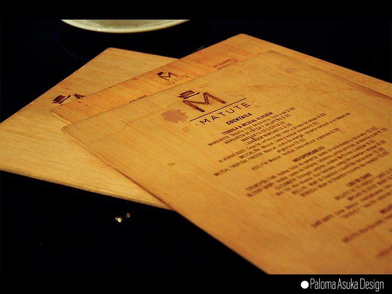 Diseño de carta de Coctelería