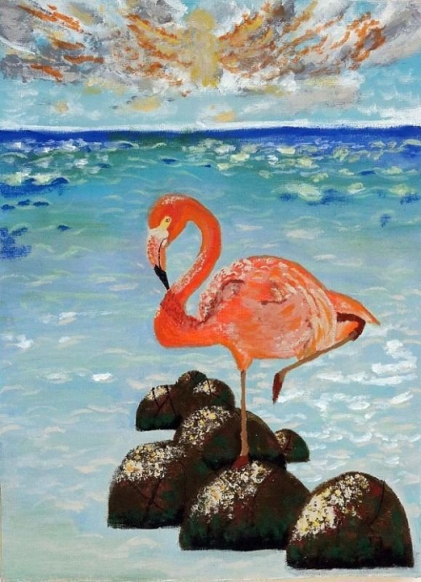 flamingo-פלמינגו בחוף