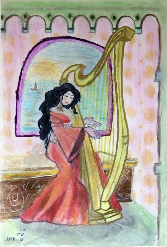 the princess with the harp