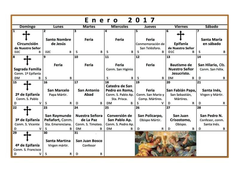 Calendario Santos.Catholic Calendar Solemnly Affirm How Great Is The Hope That We