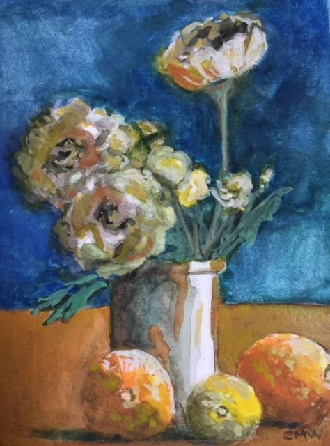 Still Life - ORIGINAL SOLD  available as greeting card at Co-Art Gallery