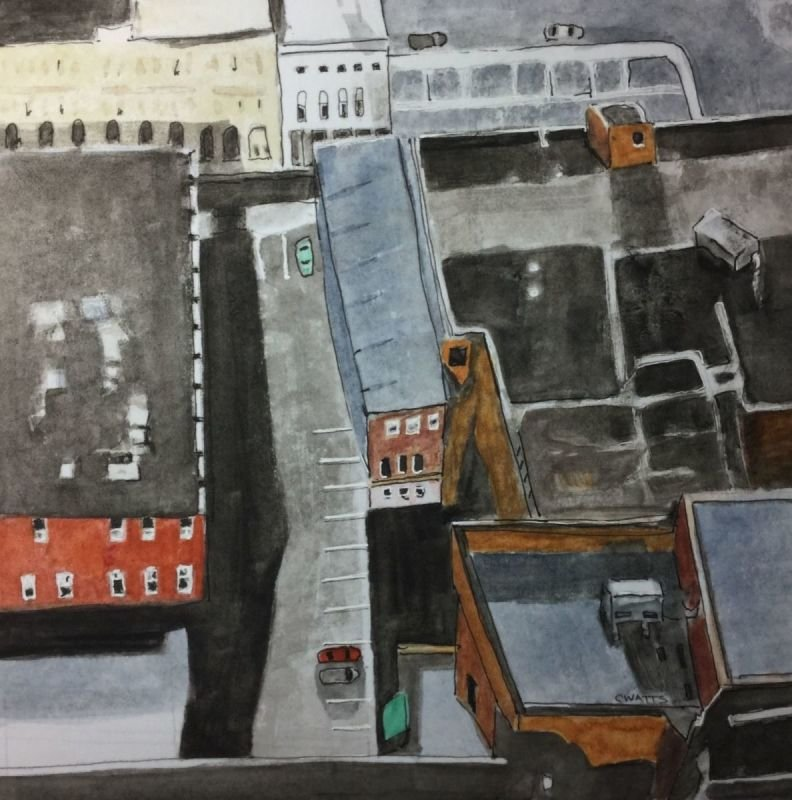 Downtown Staunton ARIAL Sketch #2