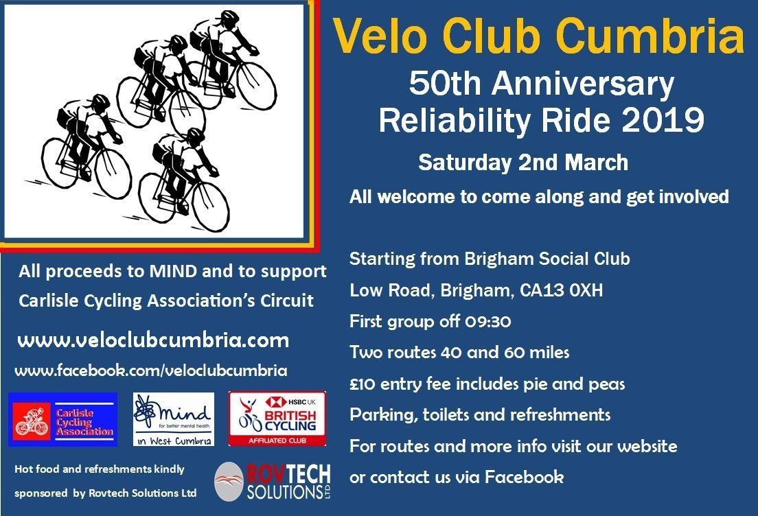 Reliability Ride 2019 - velo club cumbria