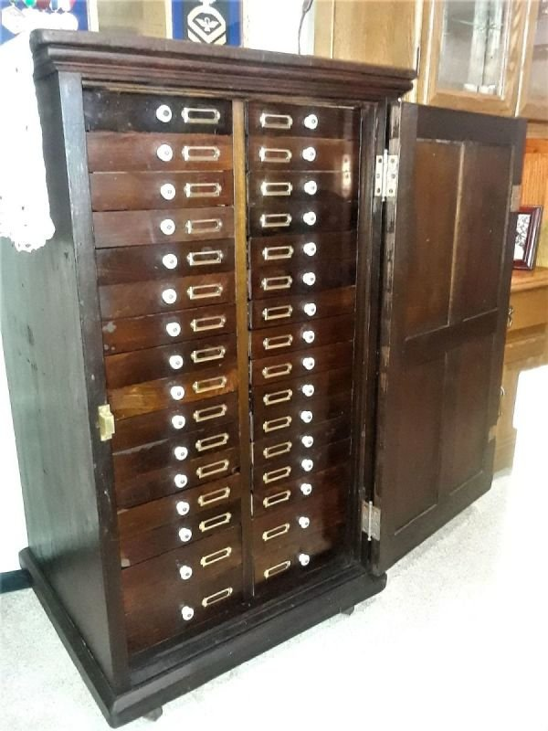 Antique Jewelers Cabinet