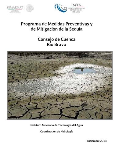 Programa de medidas preventivas y de mitigación de la sequía | Consejo de Cuenca del Río Bravo