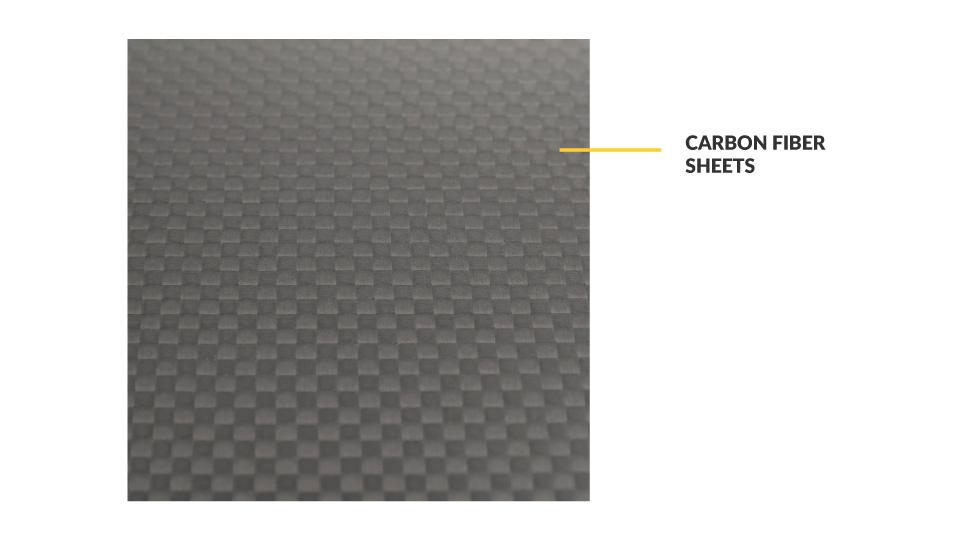 Carbon Fibre Sheet used to cut FPV Frames