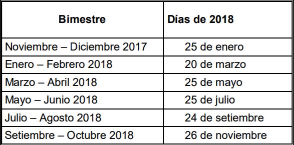 nuevo año nuevo calendario de vencimientos de dgi y bps para
