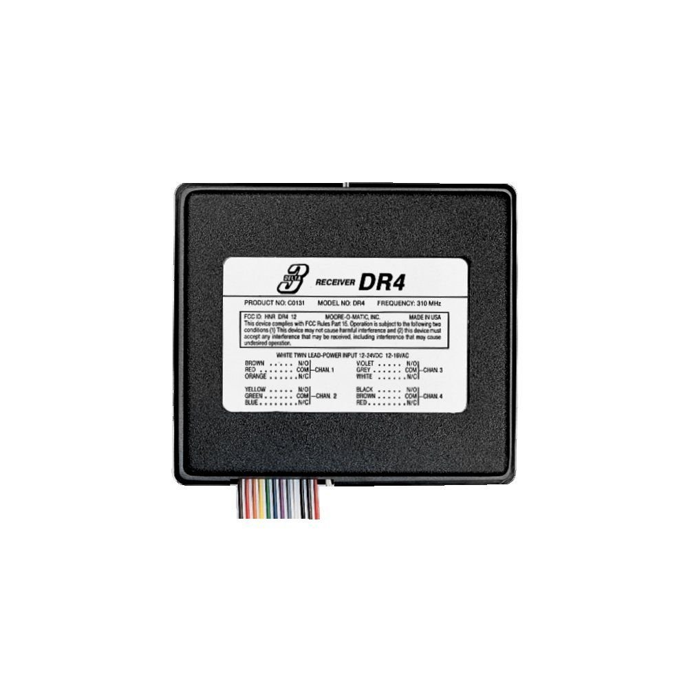 Dr 4 four garage door opener receiver dnr00023a shop linear the delta 3 model dr 4 4 channel receiver is a wireless radio control designed for use with automatic garagegate operators and access control systems rubansaba