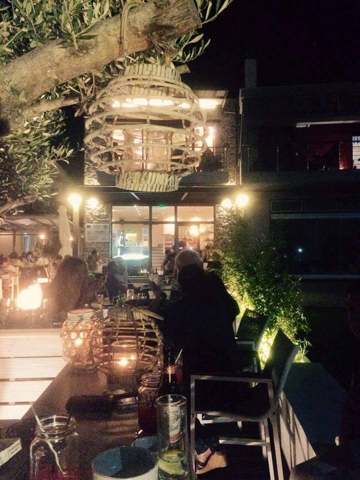 Ostria beach bar in Larissa, Greece