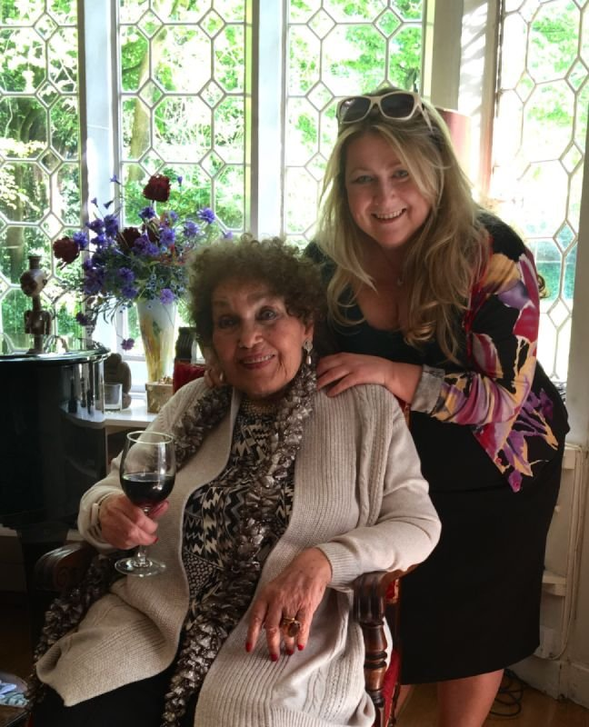 With Dame Cleo Laine