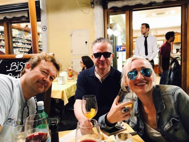 Best writer friends in Rome - Simon Kernick Kevin Wignall