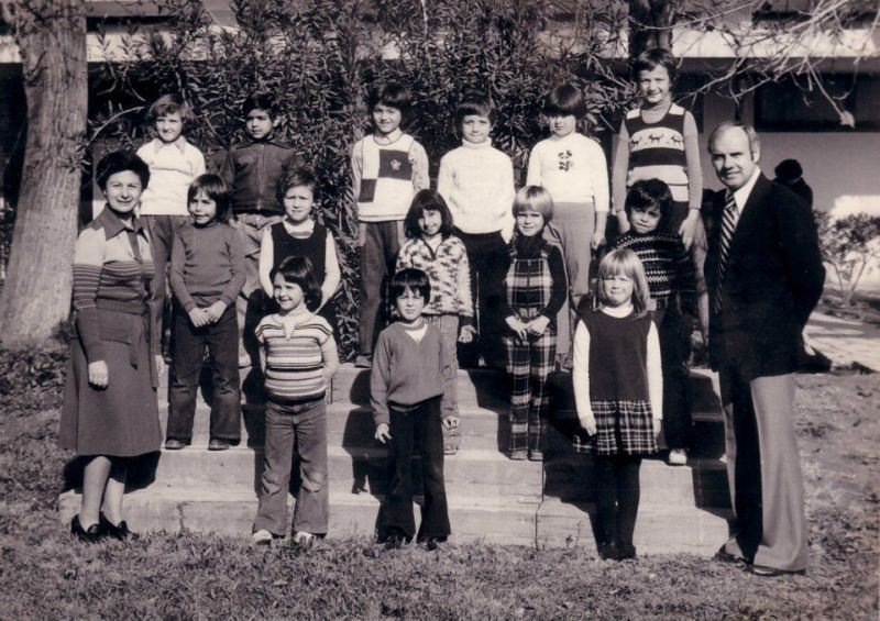 Damascus community school - Sarah is the 2nd child from the left middle row