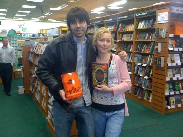 With Joe Hill MK waterstones 2010