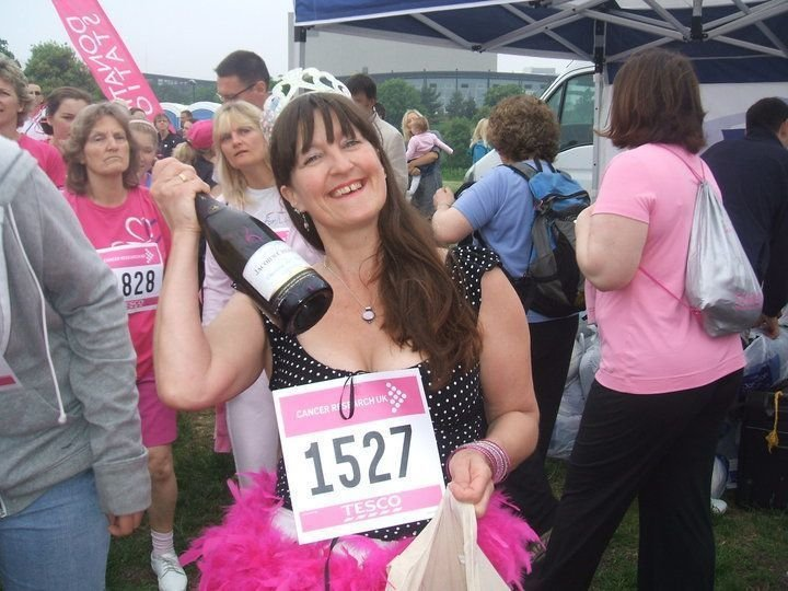 I don't do running but I did walk the race for life, with supplies of course