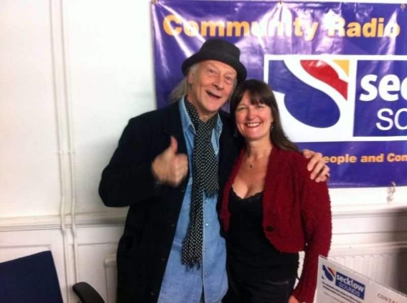 Caz & Del Bromham one of her many guests on Music MK, not unlike Stony Tracks