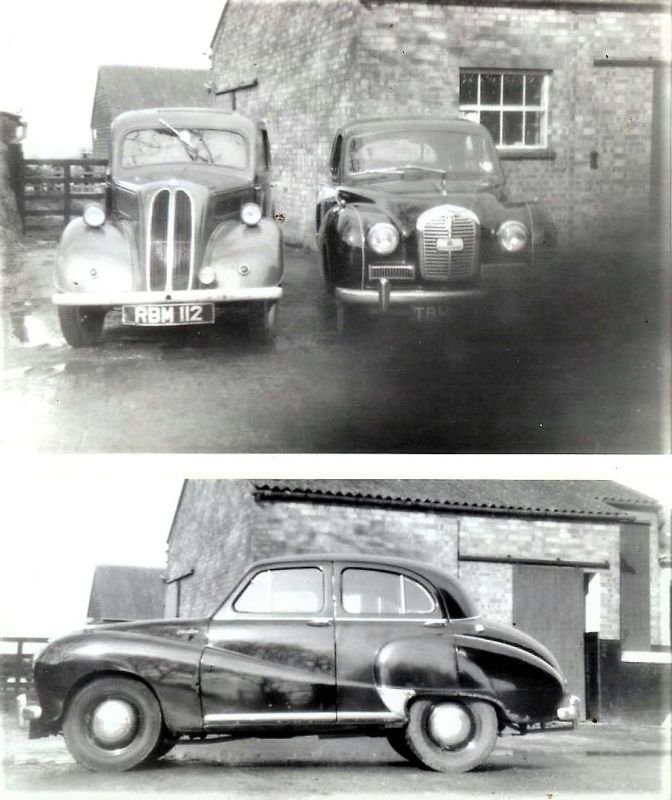 My first 2 cars - a 1956 Ford Popular, and an Austin A40 Somerset