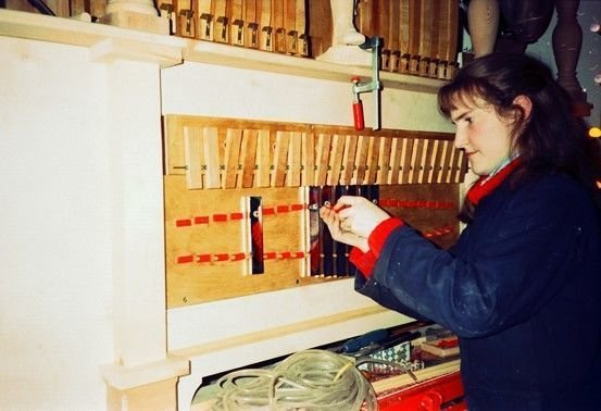 Pipe Organ Builders Aprentice in Brixton - 1989