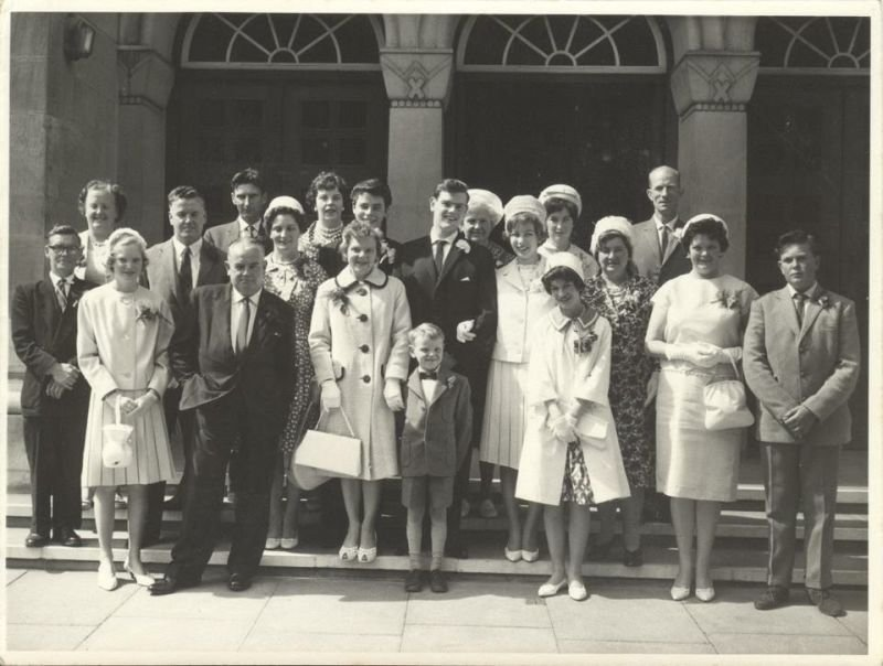 Family wedding (Andy's the little one at the front)