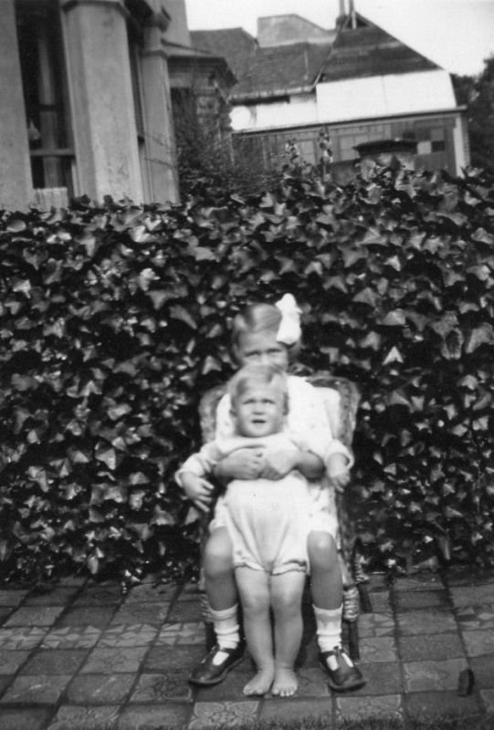 With sister Jean 1933