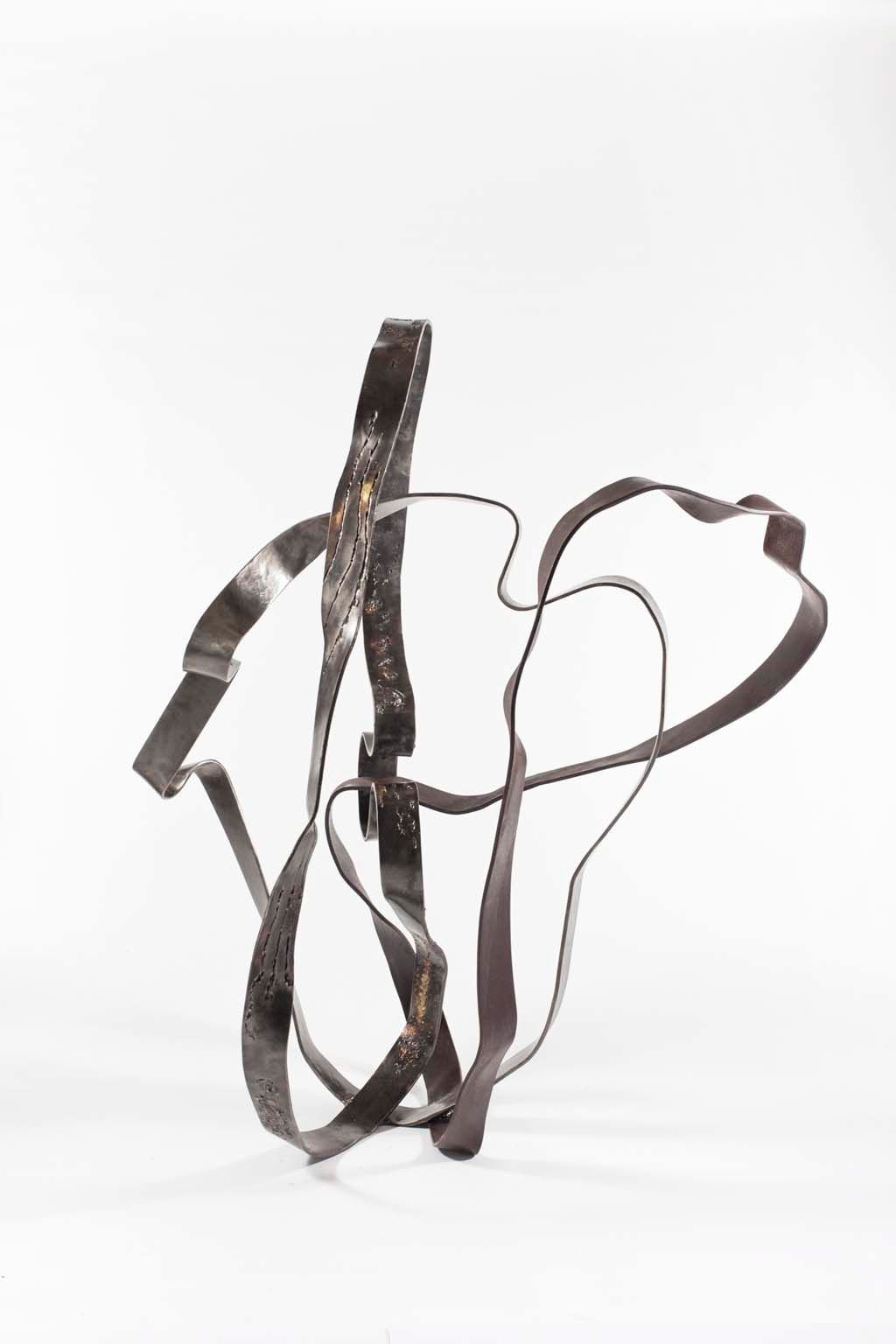 Oblivion IV | 2016 | 152x100x90 cm |  Iron & brass sculpture | Rami Ater | רמי אטר