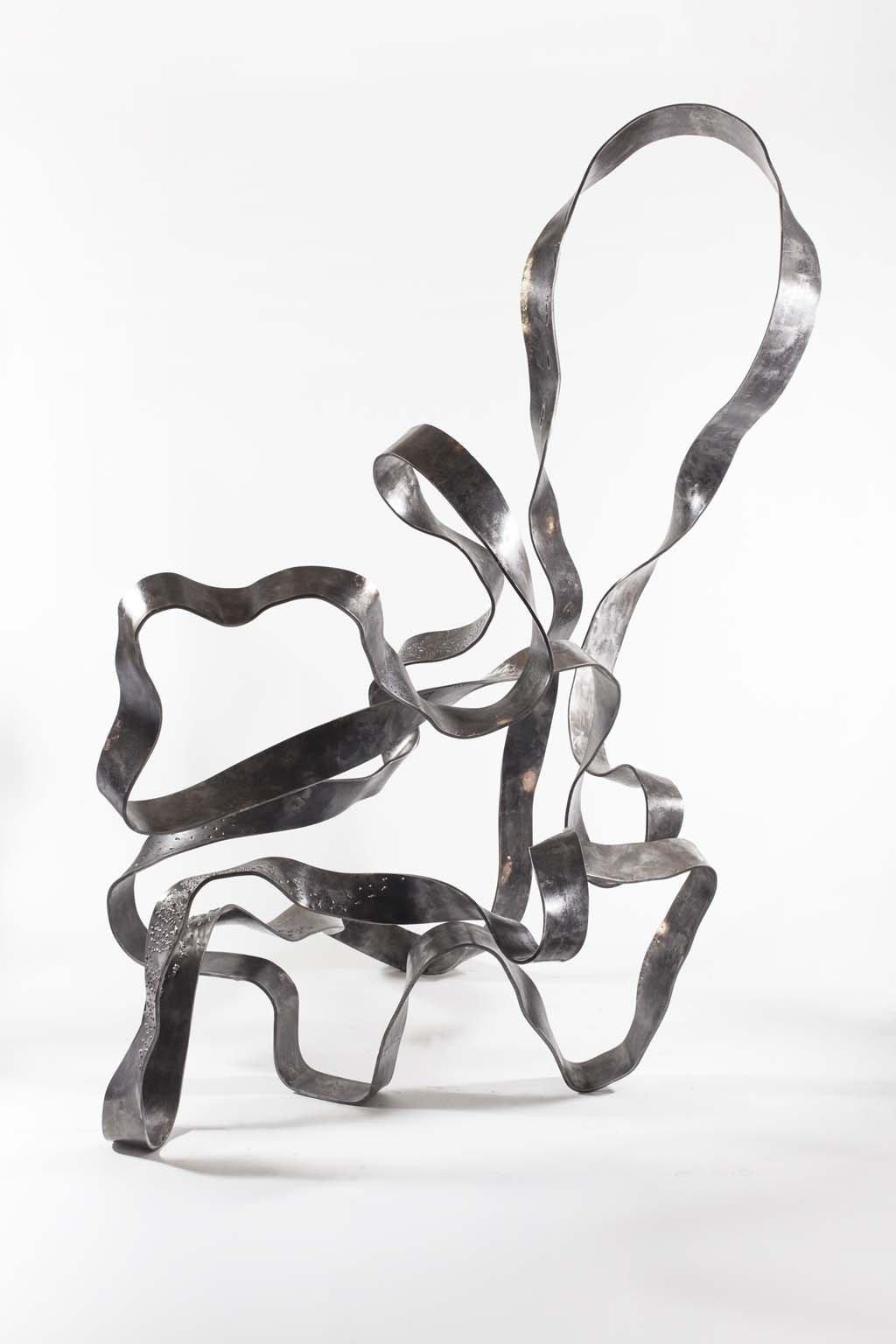 Oblivion VII | 2016 | 208x130x110 cm |  Iron & brass sculpture | Rami Ater | רמי אטר