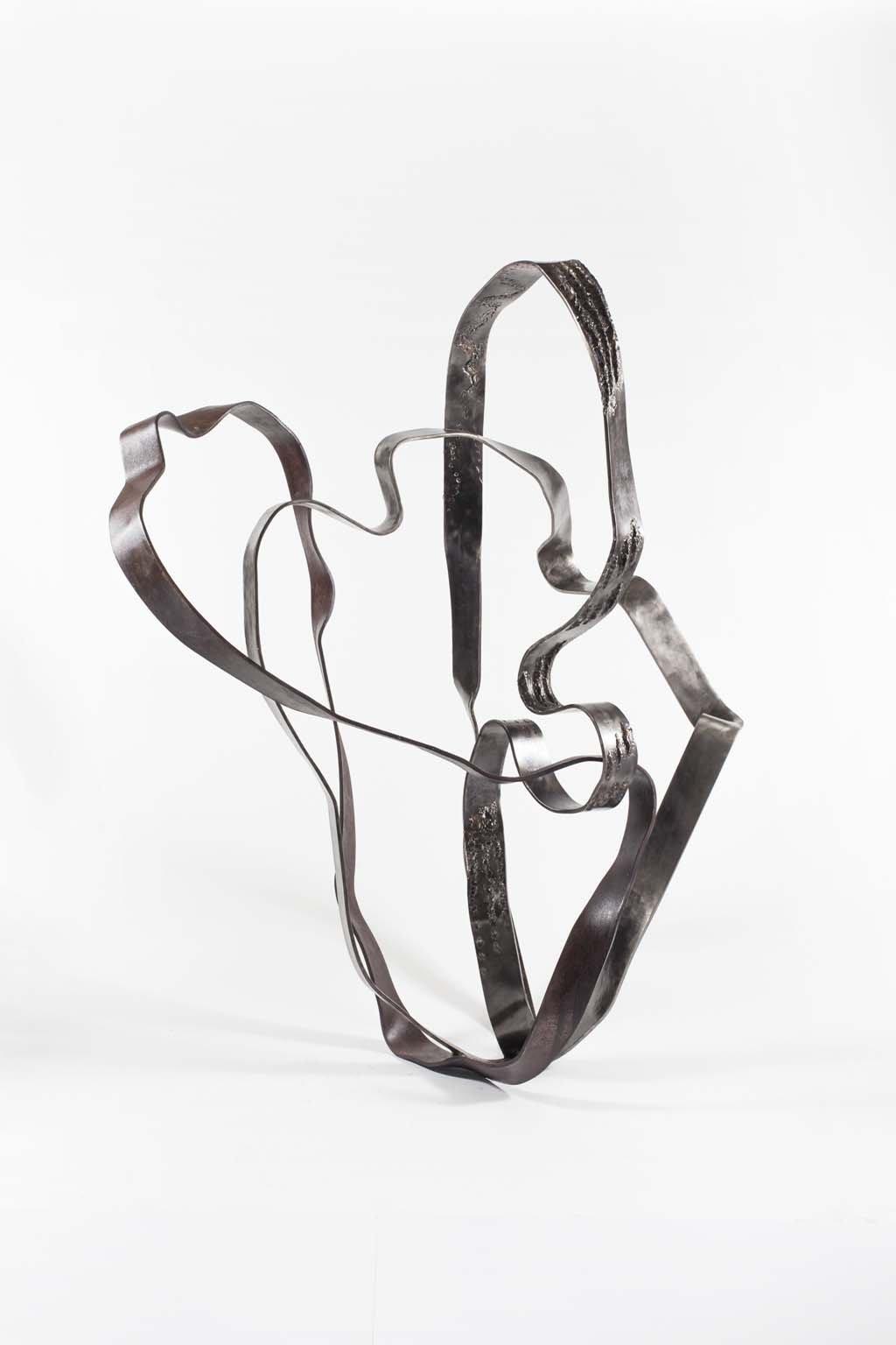 Oblivion IV |2016 | Iron & brass Sculpture| 152x100x90 cm | Rami Ater