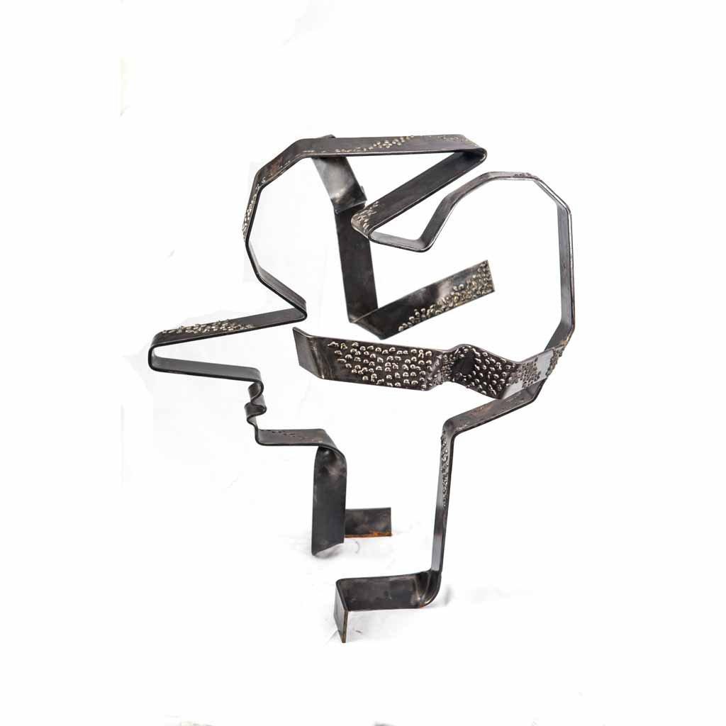 Authentic copy V   2017   Iron sculpture   82x70x60cm   Rami Ater