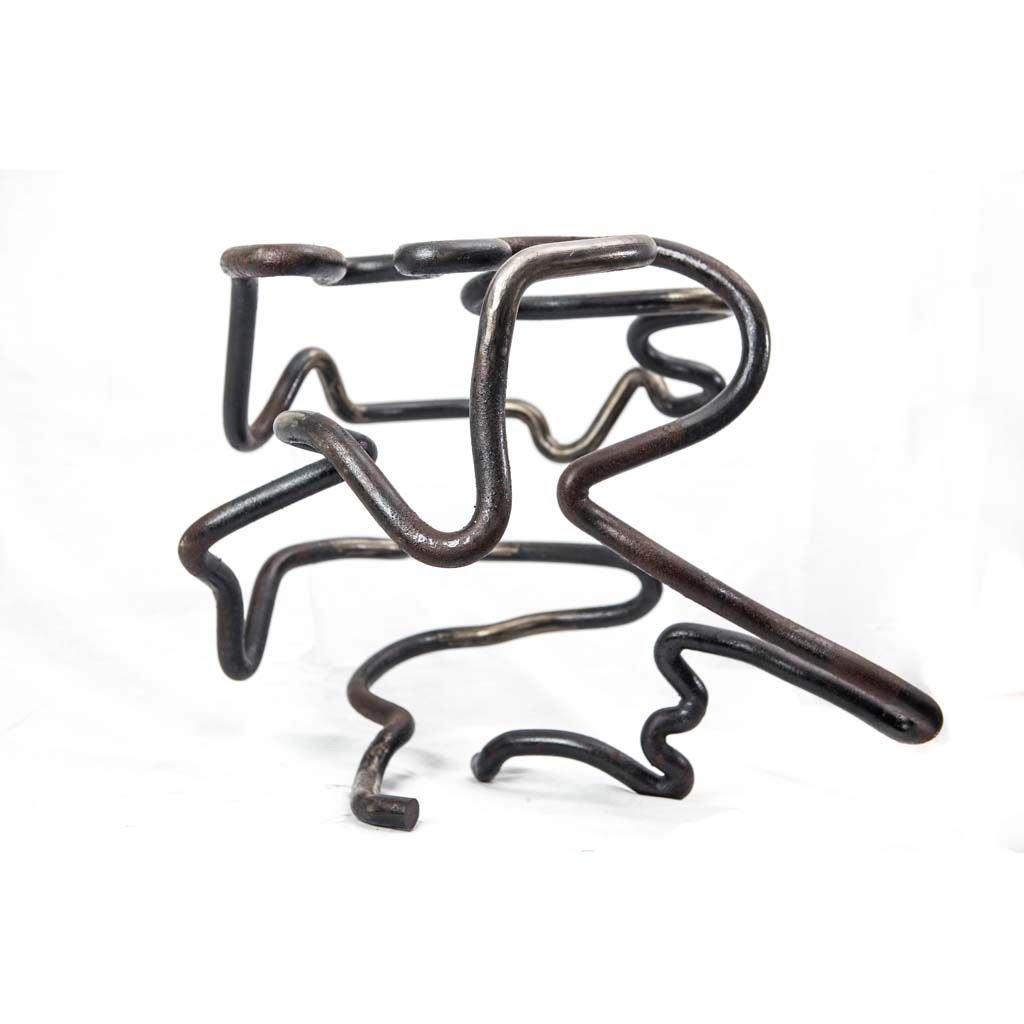 Authentic copy IV   2017   Iron sculpture    Rami Ater