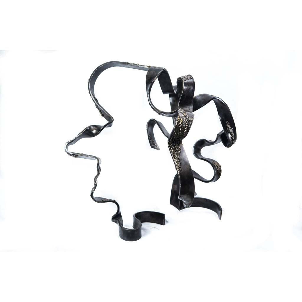 Authentic copy III   2017   Iron sculpture    Rami Ater
