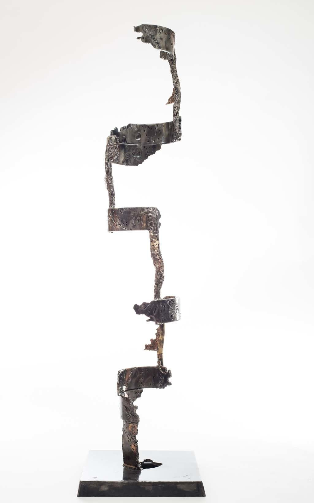 Insights II | 2014 | Iron & brass sculpture | 148x40x40 cm | Rami Ater
