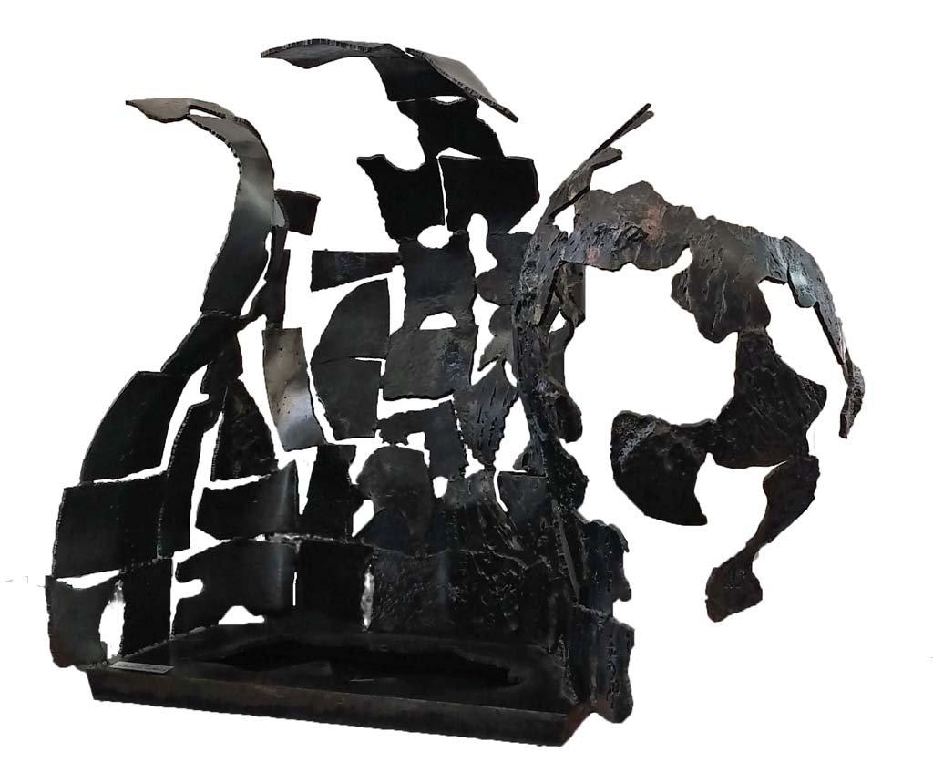 Insights X | [Barrier] | 2014 | Iron & brass sculpture | 115x125x55 cm | Rami Ater