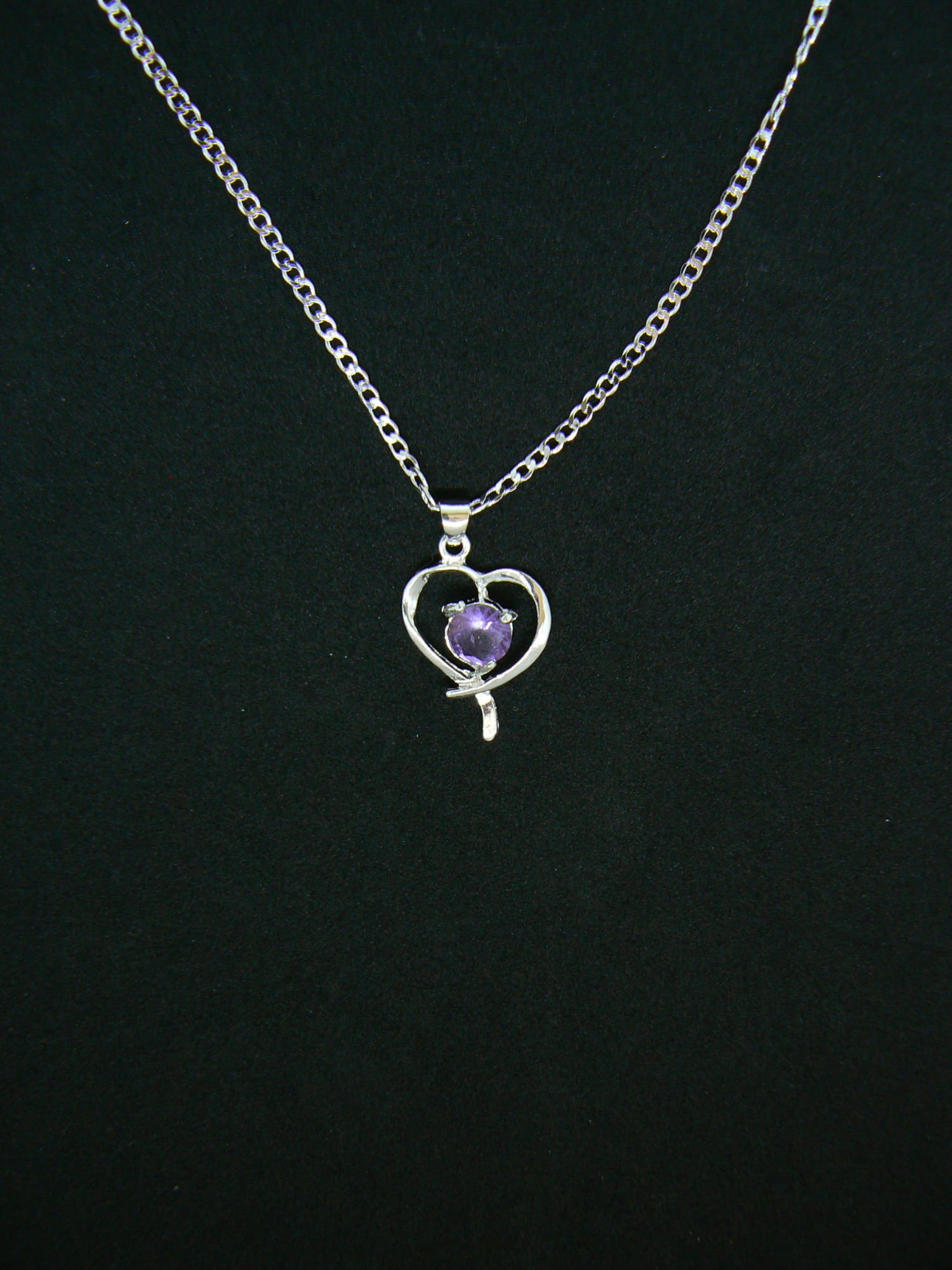 uk anjasmagicbox pendant heart co necklace purple white gold finish