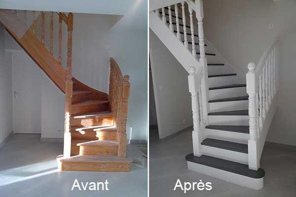 peinture decoration escalier et montee d 39 escalier peinture montpellier b ziers clermont l. Black Bedroom Furniture Sets. Home Design Ideas