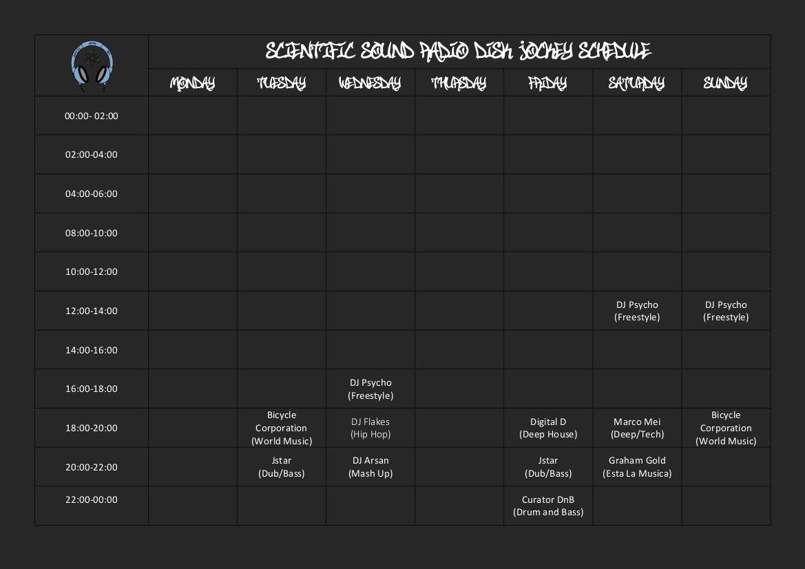SSA Schedule