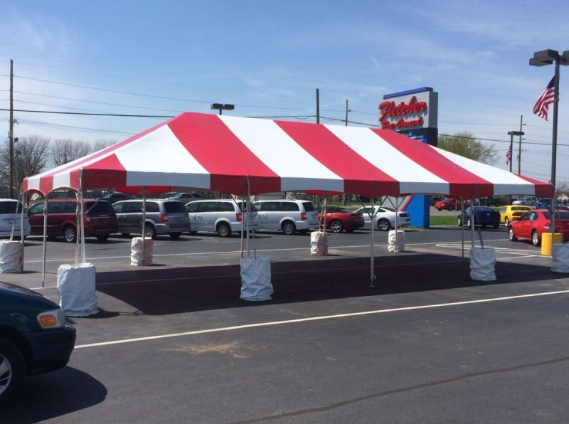 An Old-Fashioned Tent Sale