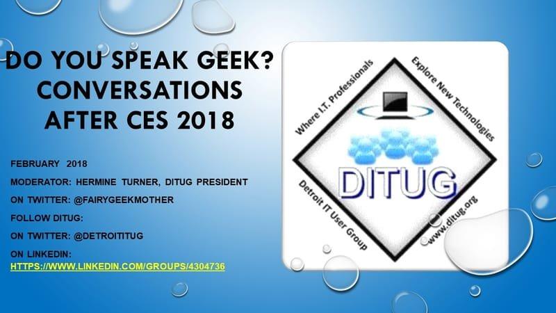 February 2018 - Do You Speak Geek