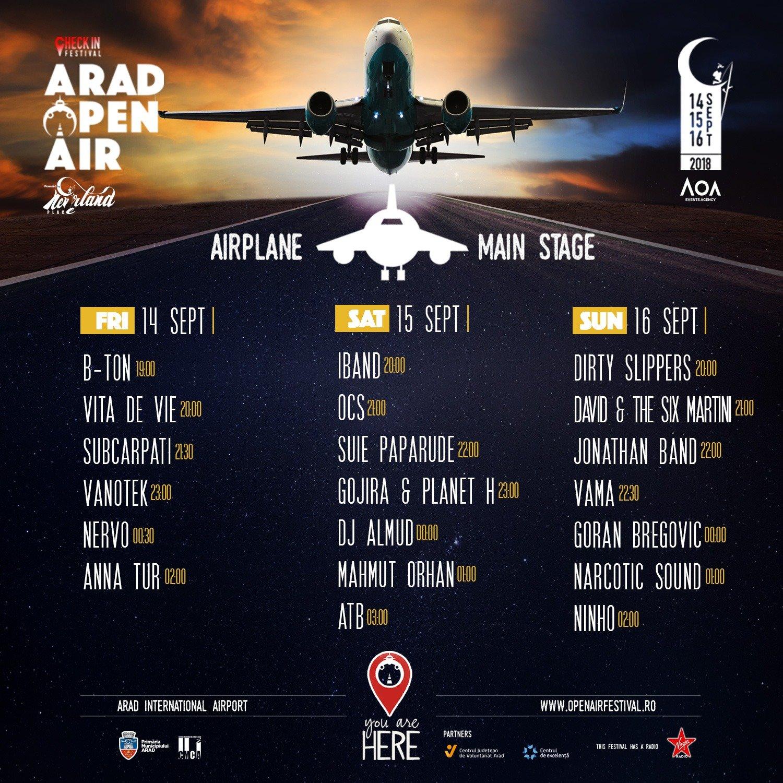 Arad Open Air Festival program