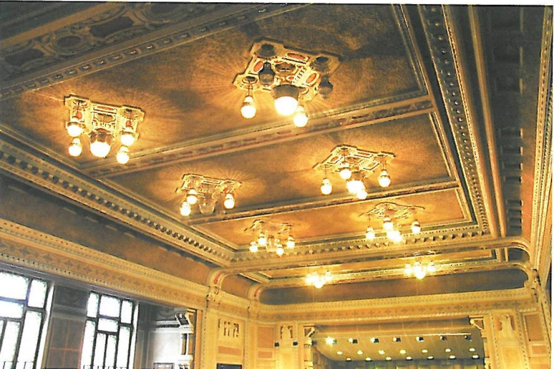 plafon palatul cultural arad