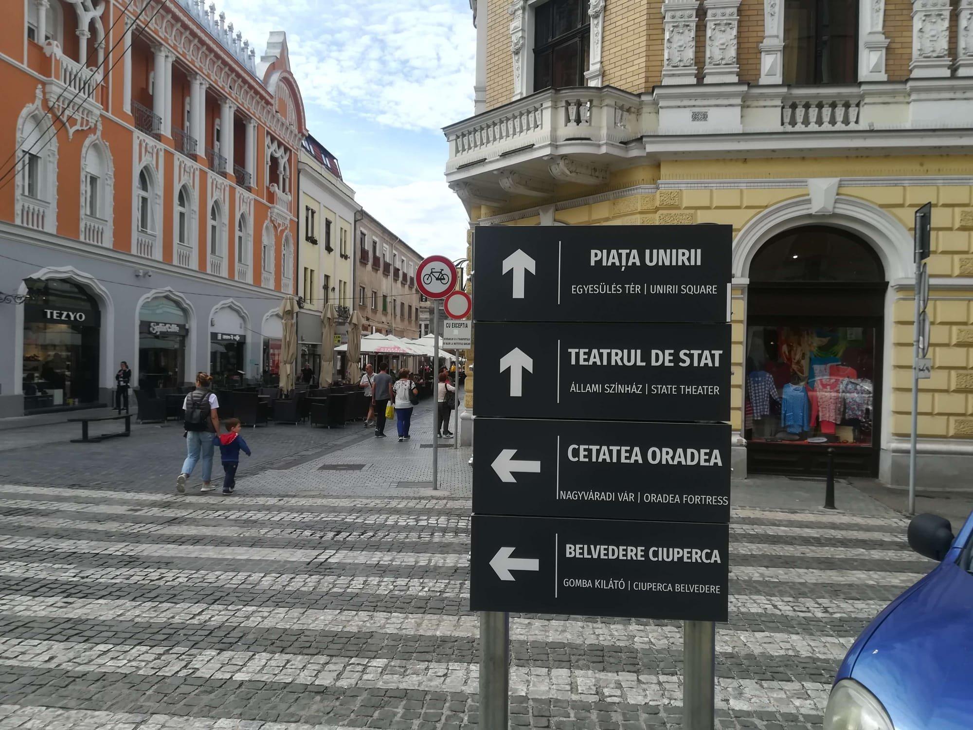 indicator turistic oradea