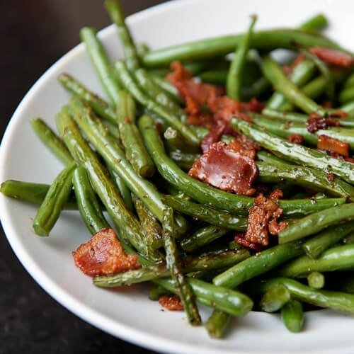 Green beans w/ bacon